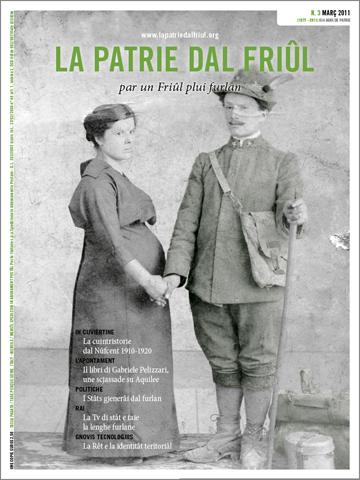 IN CUVIERTINE: Une femine che e salude il so om soldât (par concession dal Archivi Tessaro di Buie, che  o ringraziìn pe colaborazion)