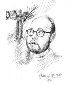Gabriele Pelizzari intun dissen di Gianni Di Lena