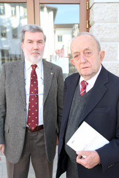 Zanon cun il linguist Tullio de Mauro