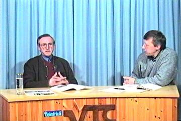 Pre Antoni a VideoTeleCarnia (foto di Celestino Vezzi)