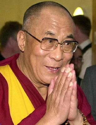 Il Dalai Lama Tenzin Gyatso (foto wikipedia)